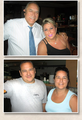 Friendly crew at Pap's Ultimate Bar & Grill Restaurant